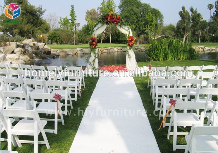 banquet white resin folding chair for wedding HY-R49