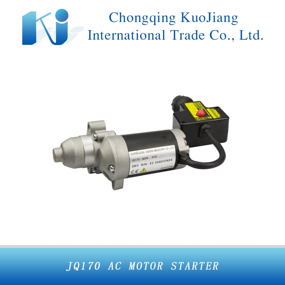 JQ170 AC gasoline starter motor matched with ZONGSHEN engine model ZS170