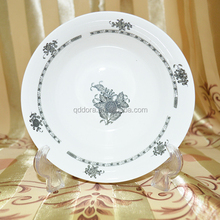 Hot sale white ceramic apple shaped plate set