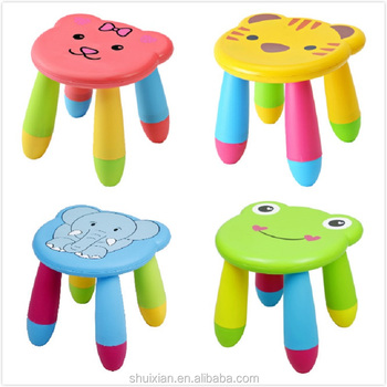 Direct factory!Durable colorful plastic step stool for kids-pig