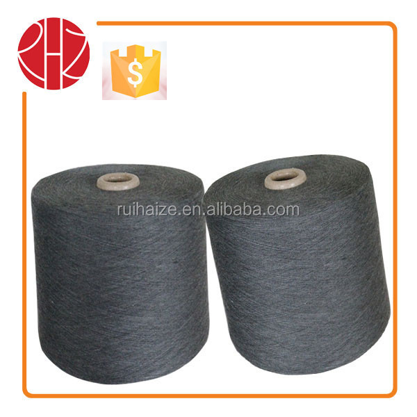 30s/1 100 Polyester melange yarn for 65% black waxed for knitting and stable sales in export market