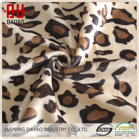 Soft leopard animal texture print velboa toy fabric