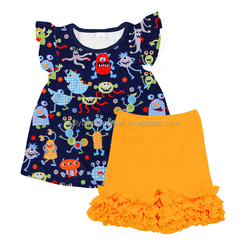 fashion toddler girls ruffle clothes baby boutique wholesale