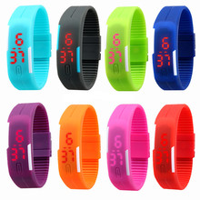 Fashion Men Candy Silicone Strap Touch Womens Rubber White LED Watch Sports Bracelet Digital Wrist Watches relojes
