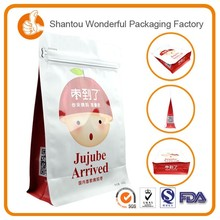 Wholesale high quality plastic ziplock peanuts / biscuits packaging bags for cheap