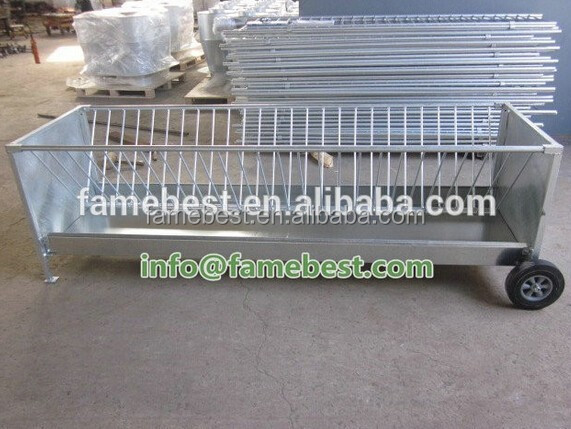 sheep grain feeder hay bale feeder trailer feeder