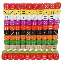 Custom Rounded Corner Sieve Wine To Cust16mm High Manufacturer Sells 16mm Wood Color Solid Wood Count printed Dice set