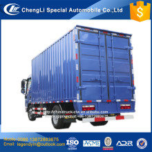 JAC chassis 4x2 mini van cargo truck with 4.2 meters long corrugated box body 4 tons 5 ton load