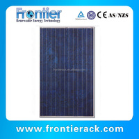 2016 cheap rooftop wind resistant 130w polycrystalline solar panel