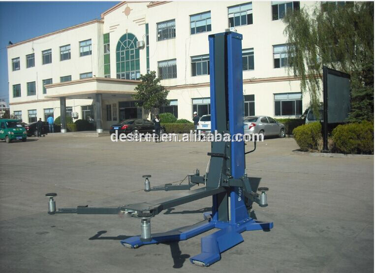 CE Portable one cylinder single post hydraulic car lift/jack/hoist for workshop
