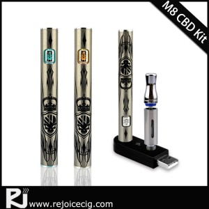 Rejoice Adjustable voltage vaporizer pen 510 Vape Pen Battery 350mah button Slim cbd eCig oil pen