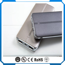New Power Banks 2017, 9000mah Leather Power Bank with Dual Output