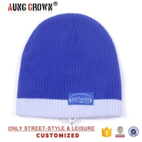 popular warm blue winter beanies hat