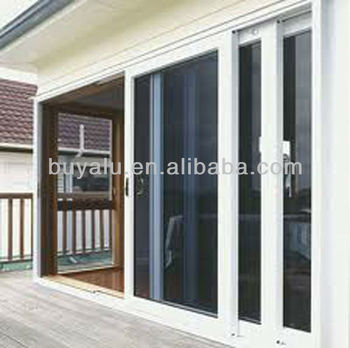 Aluminium sliding door in powder coating color,double tempering glass