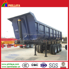 3-Axles Widely Used Back Tipping Truck Semi Trailer Dump/60Tons Steel Box Rear Dumper Semi-Trailer
