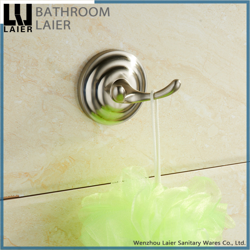 18535 bath accessories hotel nickel finishing towel hook zinc alloy robe coat hook