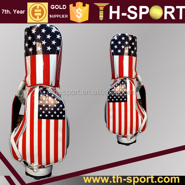 Fine Quality Bright Color Stars and Stripes Staff Golf Bag