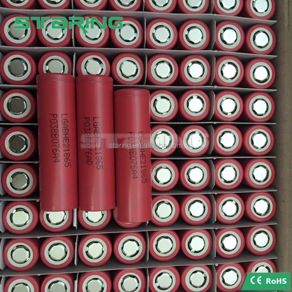 100% authentic power tool 18650 battery cell LG HE2 2500mah 20amp continuous for mod/vape/ecig