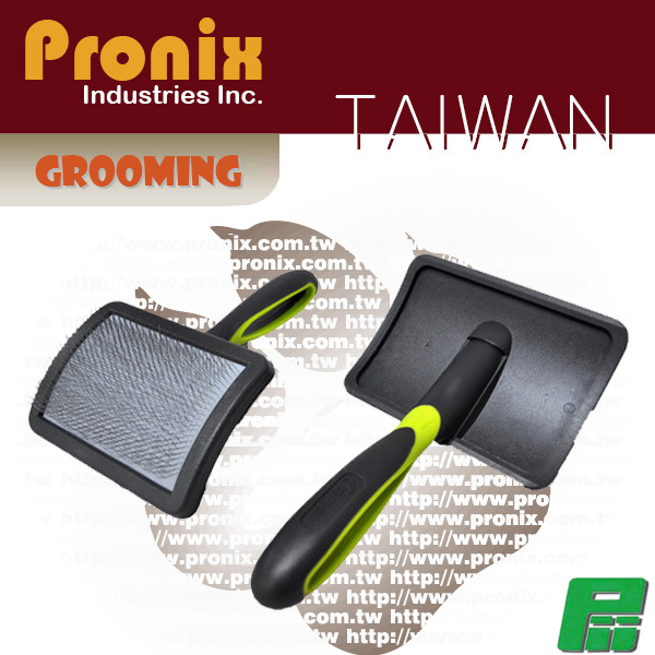 Plastic pet grooming dog slicker brush