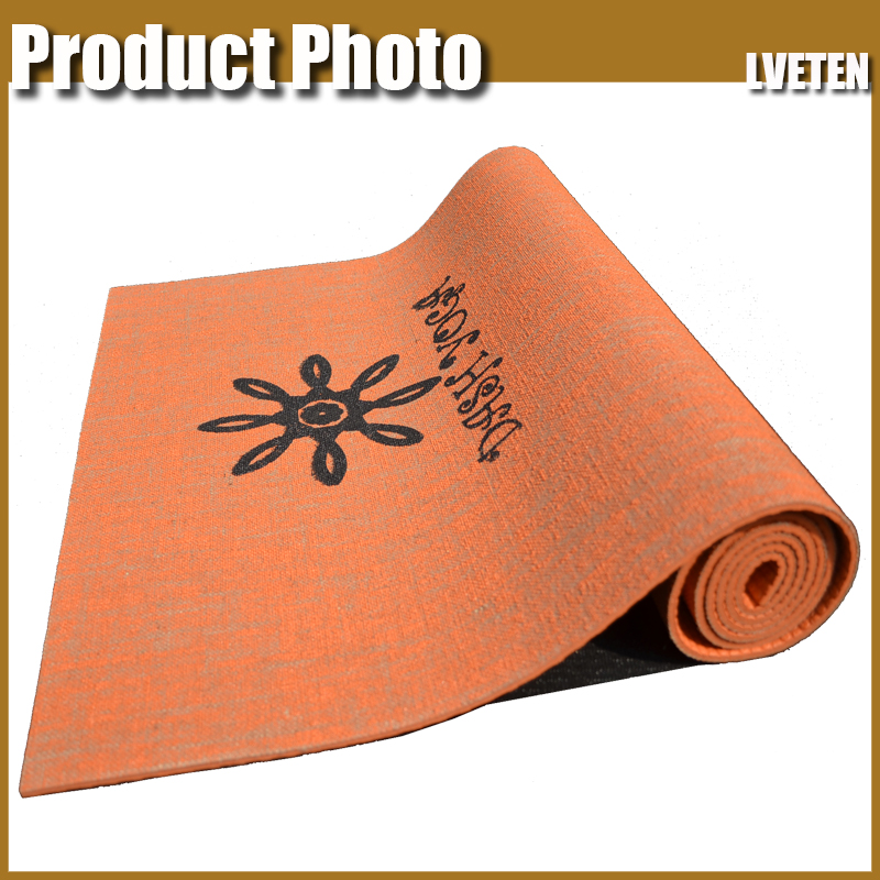 China supplier Eco custom made jute yoga mats manufacturer