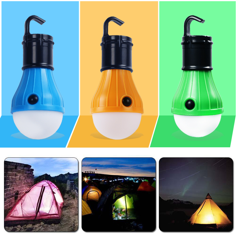 outdoor Bright Portable LED Camping Light Bulb Hanging Tent Lamp Lantern With Hook for outdoor camping