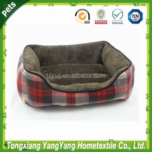 Dog bed plaid triangle pet bed & Square Pet Bed