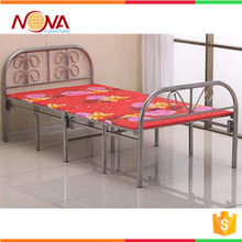Space saving wholesale cheap used modern steel metal tube super single folding bed