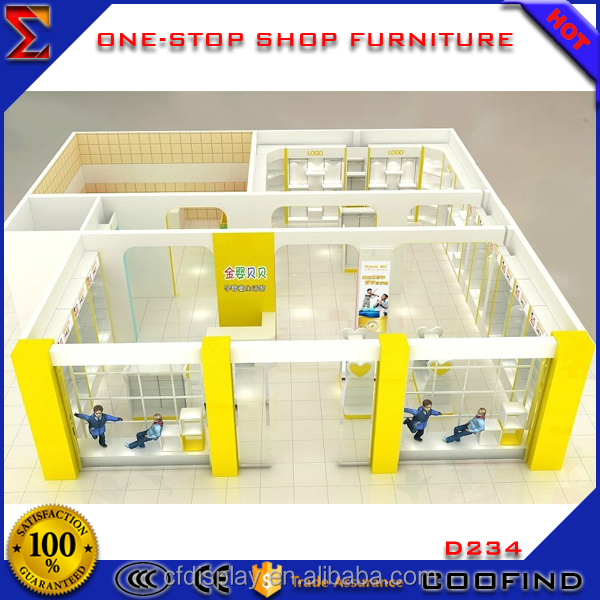 Wholesale baby shop display kids clothes cabinet for kids clothing store interior design