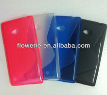 FL2204 2013 Guangzhou hot selling s line tpu soft back cover case for nokia lumia 720