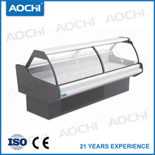 China curved glass lid deli cases dispaly chiller