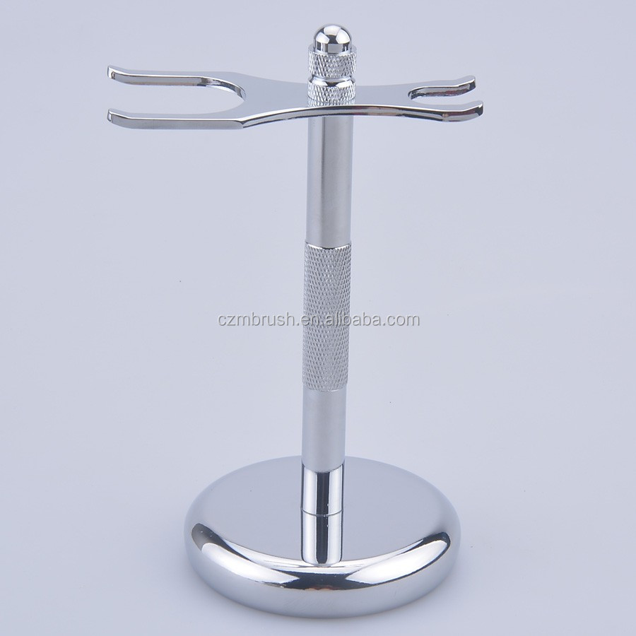 high quality Shaving Brush Stand deluxe chrome razor stand