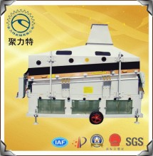 gravity vibrating cleaner for seed grain