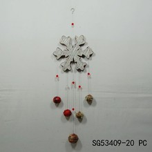 fashion beautiful Christmas decor snowflakes white wind bell hanging decoration