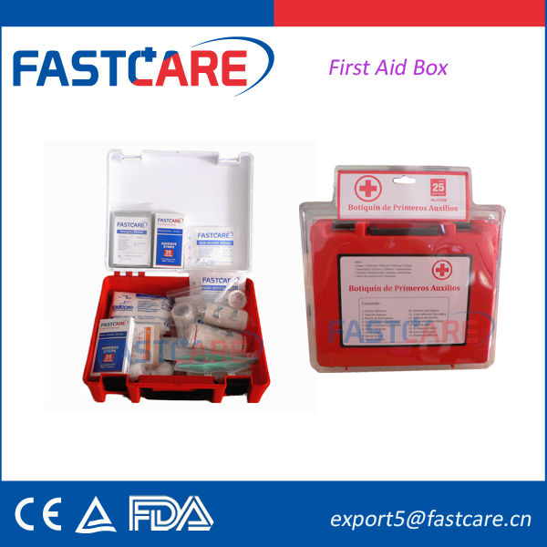 CE approved excellent quality wall mounted first aid box