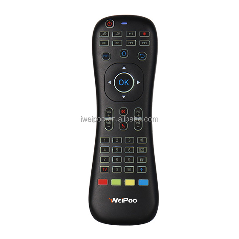 2.4G Fly Air Mouse iweipoo GT01 Wireless Russian Keyboard with Microphone IR Learning Remote Control Combos forPC Tablet