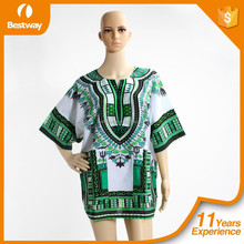 2016 Hottest Dashiki Africano En Alibaba Color Verde Dashiki Camisetas Al Por Mayor