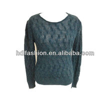 Ladies long sleeve cable knitwear 2013