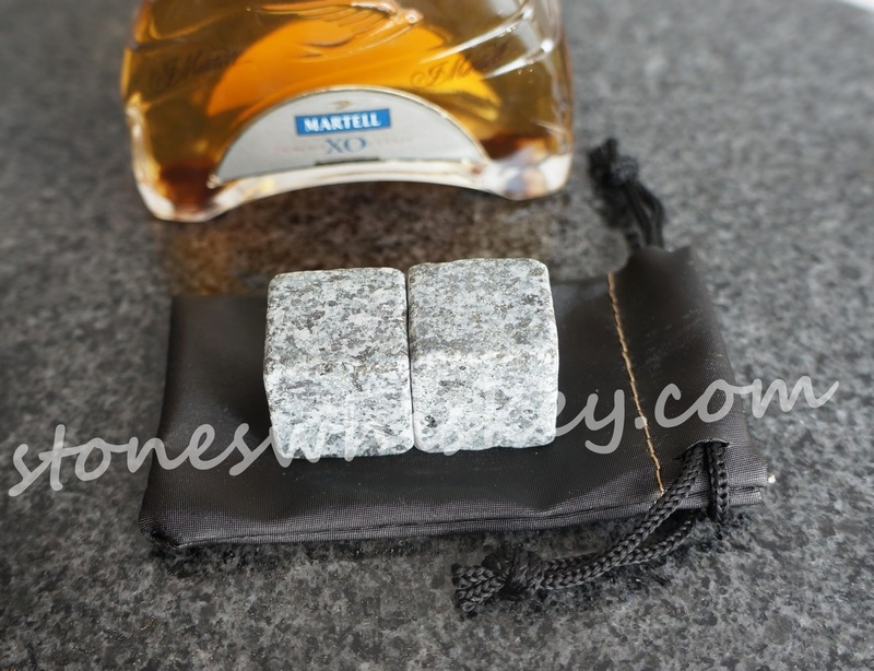2 pcs granite whisky wine ice cube