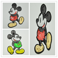 Wholesale Custom New Design Big Mice Mickey shape Reversible Sequin Embroidery applique Patches WEFB-610