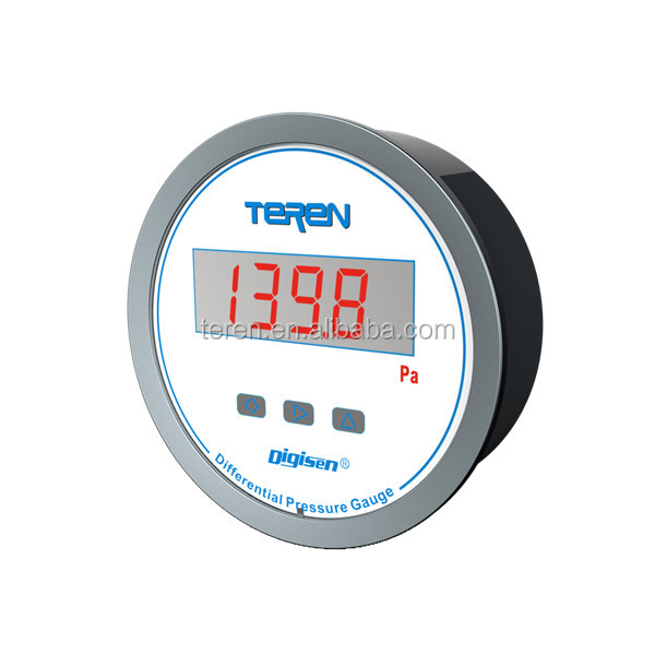 Digital differential pressure gauge with alarm LED LCD display