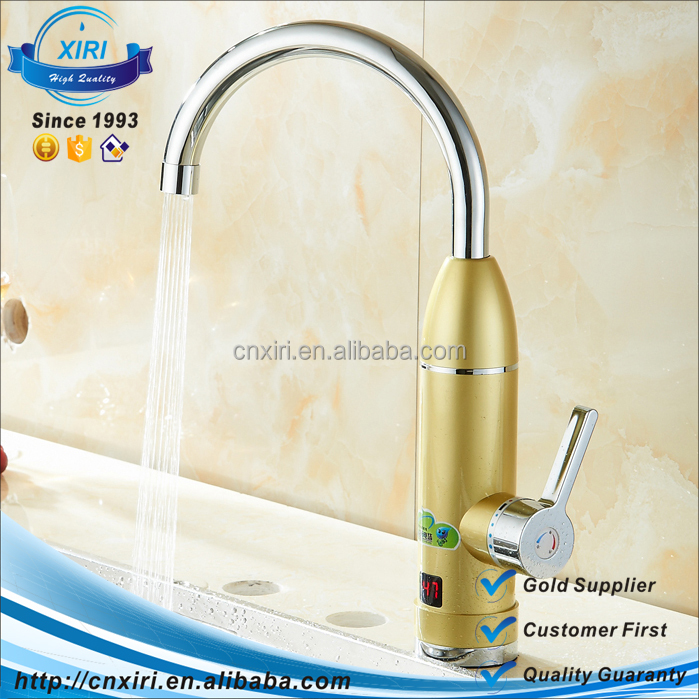 High Quality LED Digital Electric Water Heater Faucet Temperature Control Kitchen Tap