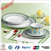 Uk Alibaba Express Best Home Porcelain White French Style Porcelain Tableware