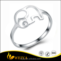 2016 Hot Sales New 925 Sterling Silver Ring with Elephant For Women in Fine Cute Design