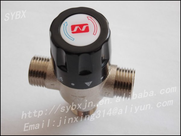 "China manufacturer Brass 1/2"" DN15M Solar Heater Shower Thermostatic Valve"