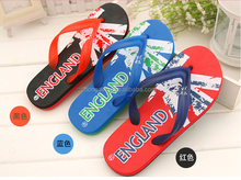 Nice custom made flip flops for the beach for men, uk usa design mens beach sandles footwear