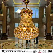 C98179 crystal lamps chandelier ,rotating crystal lamp base ,shell chandelier