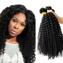 Brazilian natural color unprocessed fashion type human hair kinky curly bundles