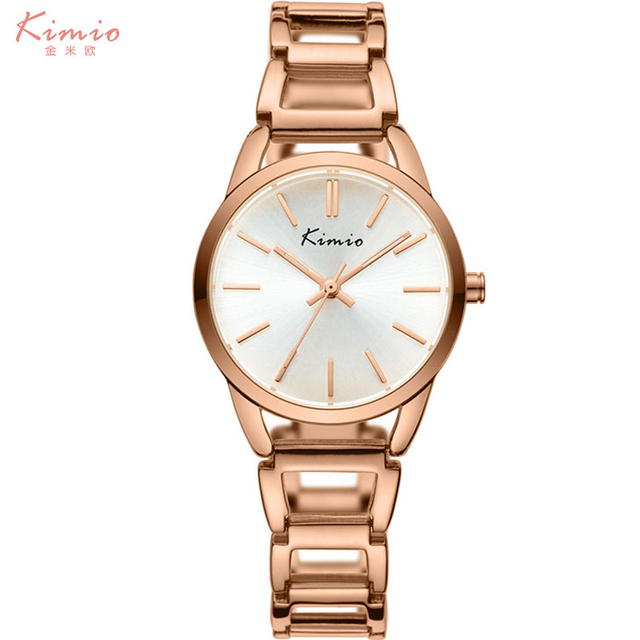 KIMIO brand women bracelet watches lady fashion casual dress quartz watches rose gold silver steel wrist watch female waterproof