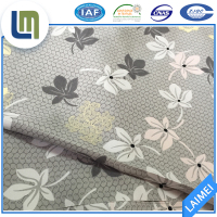 High quality soft flower printed stretch polyester fabric for beddings, home textile