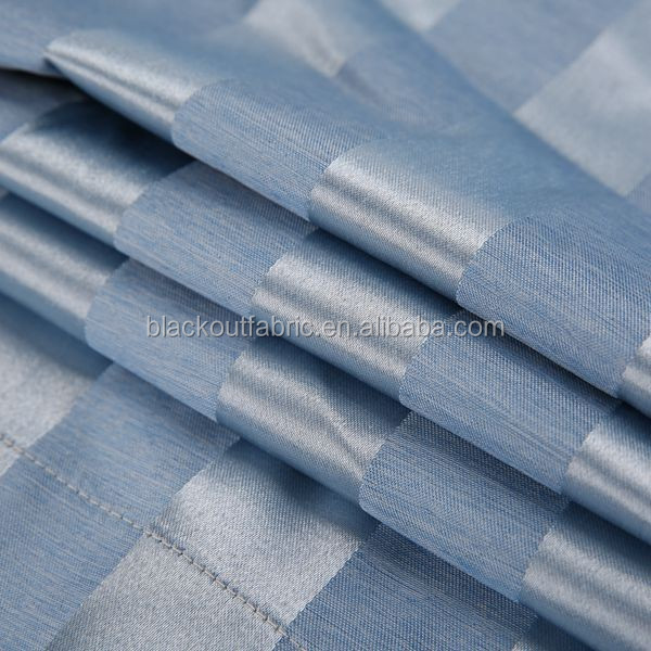 Stripe Style 3 Pass Thermal Lined Blackout Fabric for Curtain for Domestic and Commercial Use